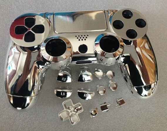 free shipping Custom golden metal full shell for PS4 Controller
