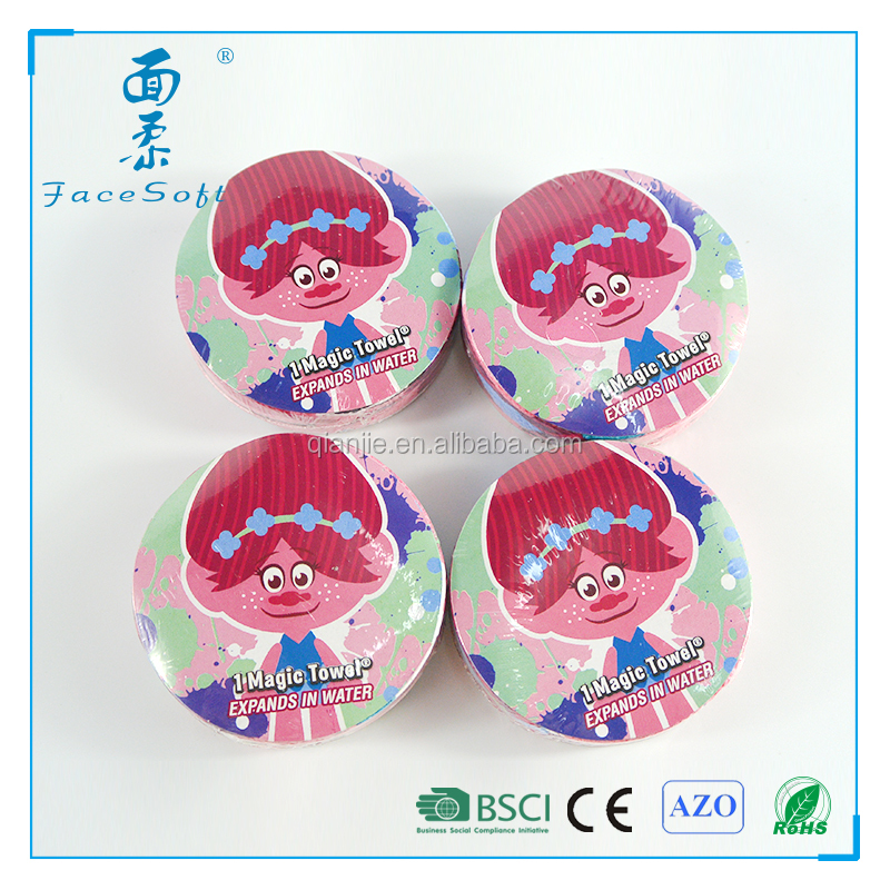 China wholesale high quality compressed magic towel 1 dollar gift