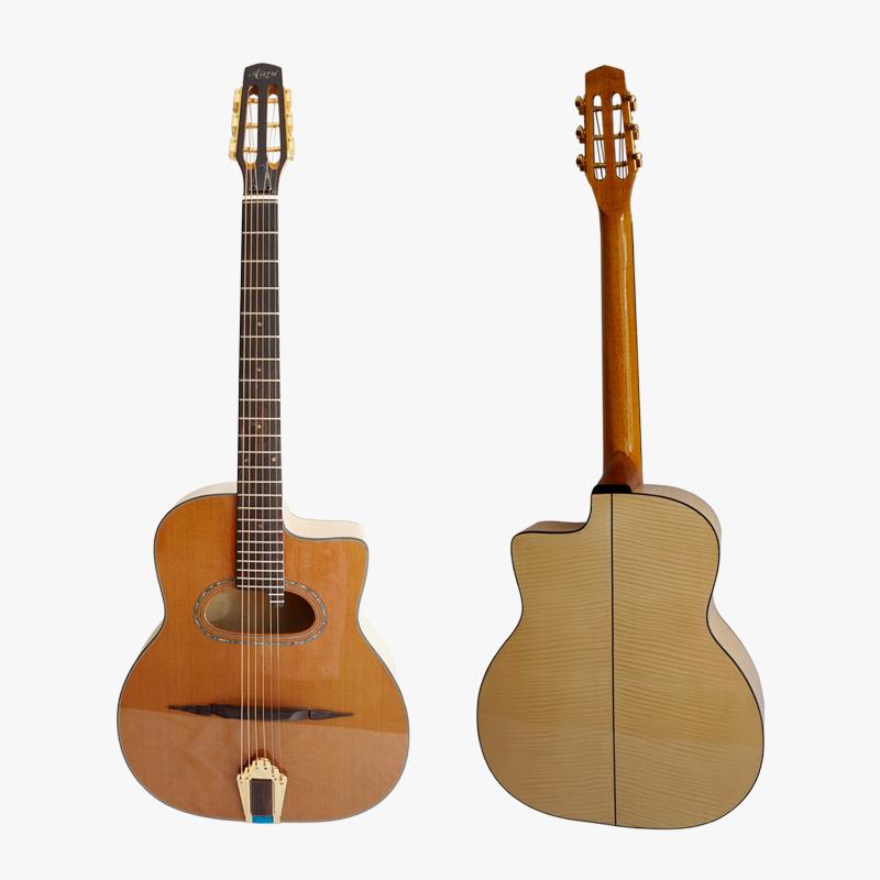 Alibaba.com / Aiersi Brand handmade solid archtop Grande Bouche maccaferria Gypsy jazz acoustic Guitar