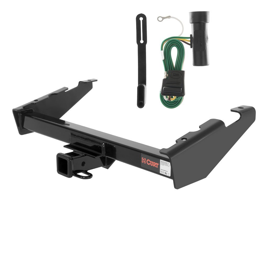 CURT Class 3 Trailer Hitch Bundle with Wiring for Chevrolet Suburban, GMC Suburban - 13017 & 55311