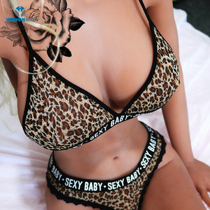 Discount selling hot leopard indian girls in bra panty sexy bra and panties girls sexy lingerie CB-S221