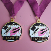 <span class=keywords><strong>Ballet</strong></span> Dansen goud emaille medaille met roze lint