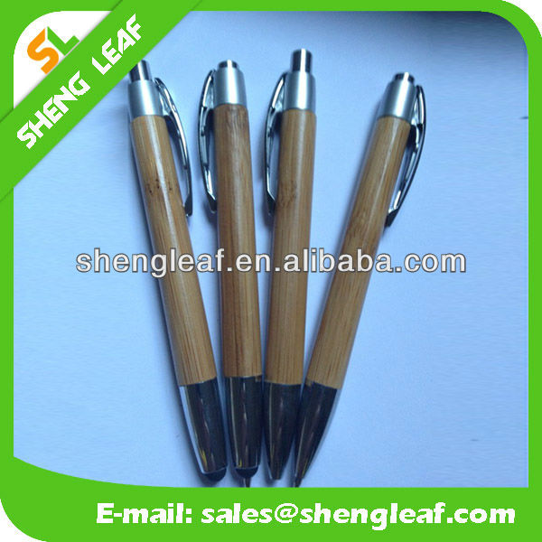 wooden pen with metal material touch gelpen