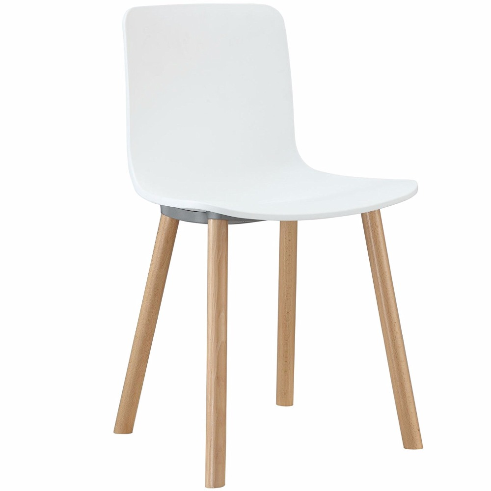 Wholesale Modern Polypropylene Wooden Legs Chairs Plastic Dining Room Chair for sale