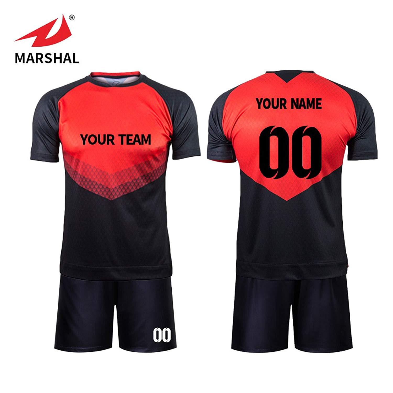 87a61cfd5ea Get Quotations · Marshal Jersey Custom Team Soccer Jerseys Set Sublimation  Sportswear Fabric Custom Men's Training Uniform Suit