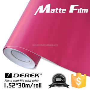 Hot sale matte color vinyl car wrap material car decorative vinly