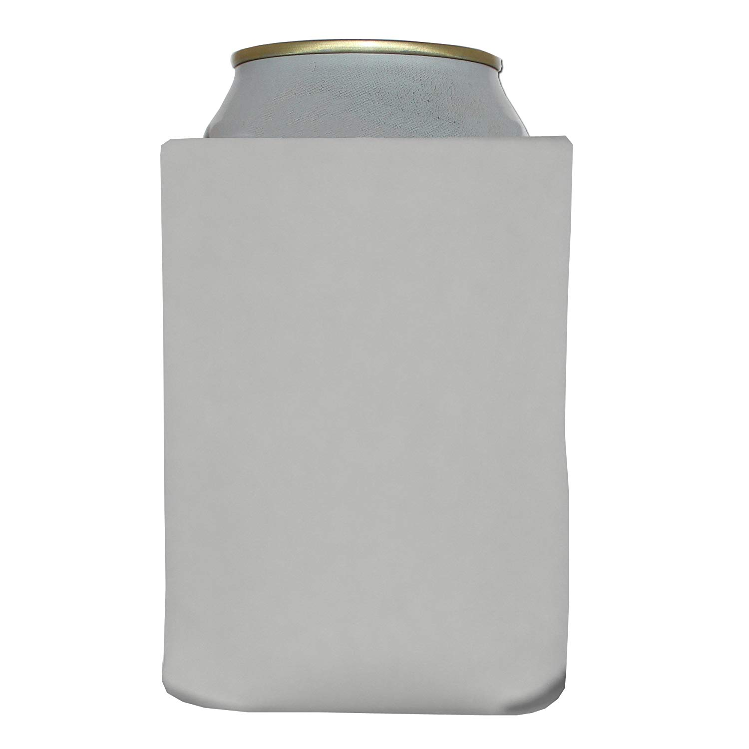 SINGLE WHITE Premium Blank Beverage Insulator Can Cooler for Soda & Beer. Blank WHITE Can Coolers, Heat Transfer Vinyl, Fabric Ink, Screen Print, Sublimation, Wedding, Party, Reunion, Birthday