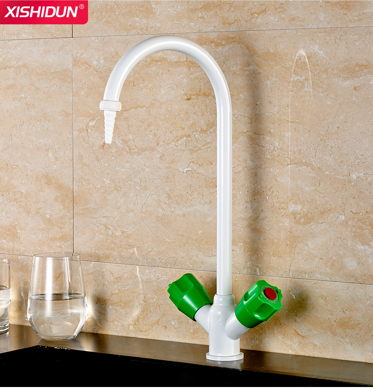 Brass Hot and Cold Lab Gooseneck Sink Assay Faucet