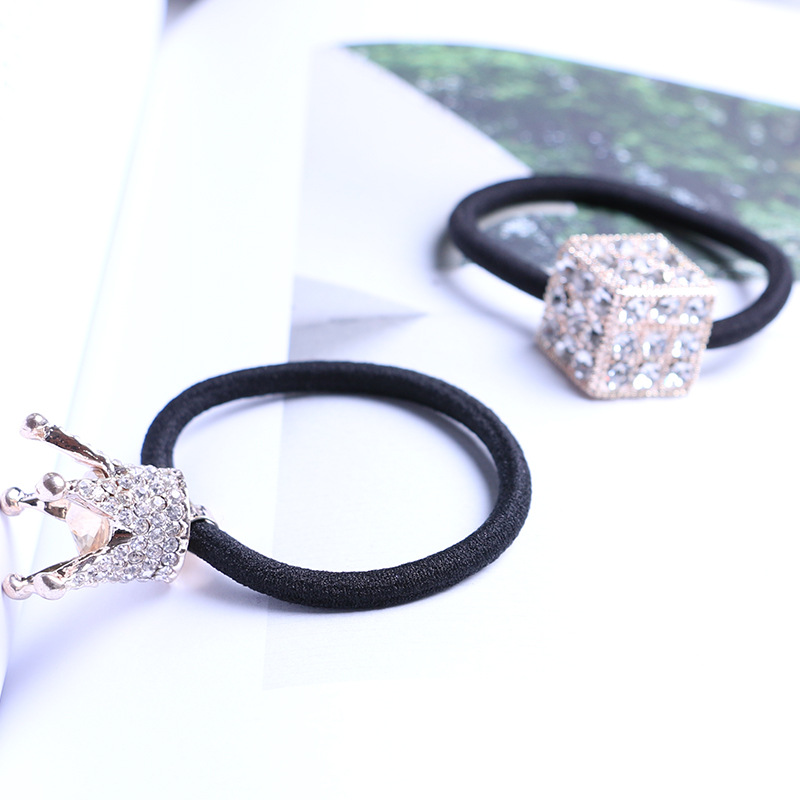 High quality new design multi pattern girls crown hair ring
