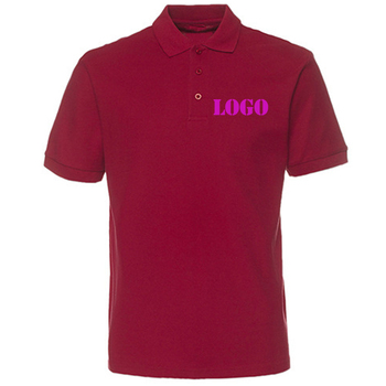 Custom Logo Factory Promotional Basic Style Pain Blank Embroidered Polo Shirts For Mens
