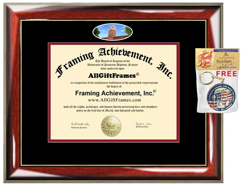 AllGiftFrames Custom Diploma Frame Embossed Washington State University College Best WSU Graduation Degree Frame Double Campus Fisheye Picture Frame Cheap Graduate Gift