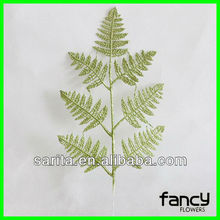 new design luxury 7 branches artificial leave for clothing decoration