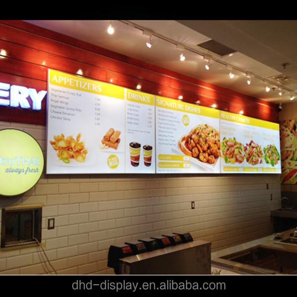 illuminated frameless fabric led menu board aluminum light box buy