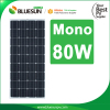 Bluesun high effective mono 80watt solar pv panel best price power 80w solar panel