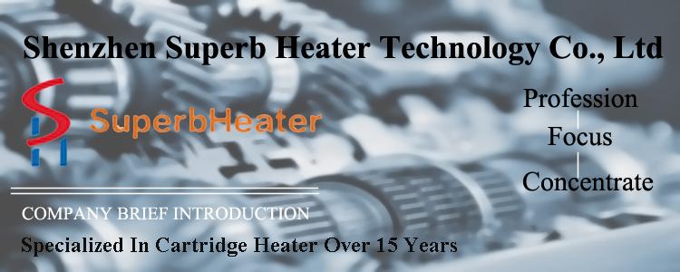3.175 มิลลิเมตร * 16 มิลลิเมตร 12 โวลต์ 12 วัตต์ความต้านทาน Heater Cartridge เครื่องทำความร้อนสำหรับอุปกรณ์สูญญากาศ