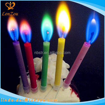 Cupcake Candles Colored Flames Wholesale Import Birthday Cake