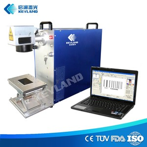 Computer Control Fiber Laser Engraver with Rotary for Cylinder / Round Items