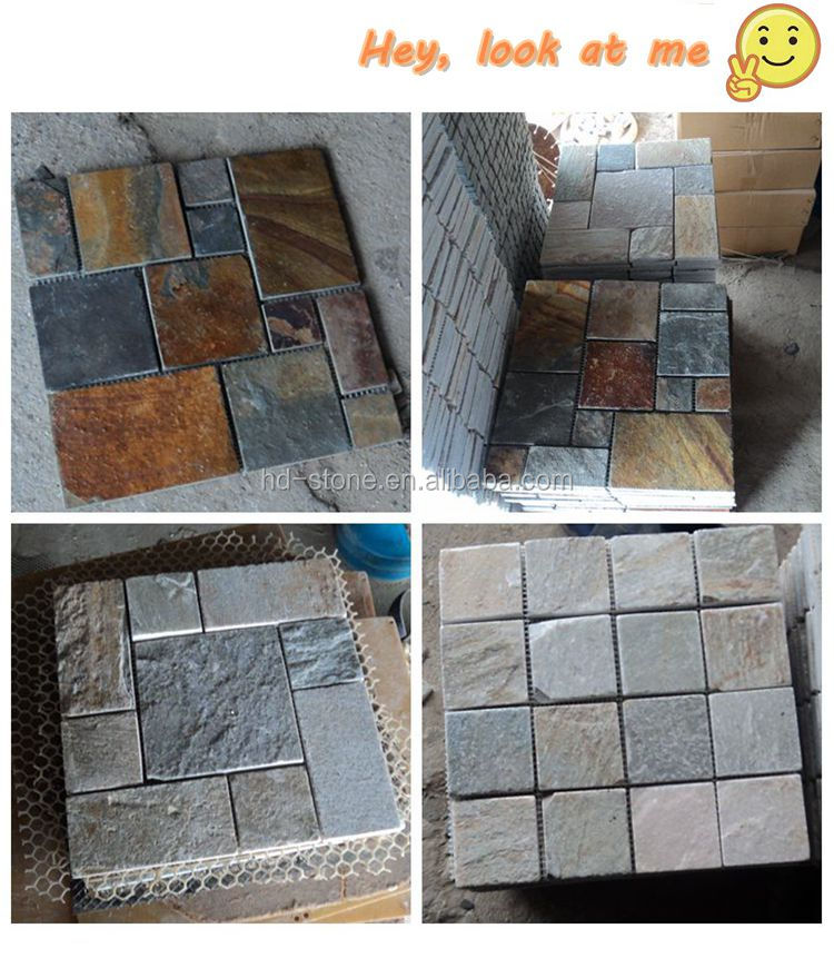 Natural Stone Floor Tiles High Quality Cultural Stone Mosaic