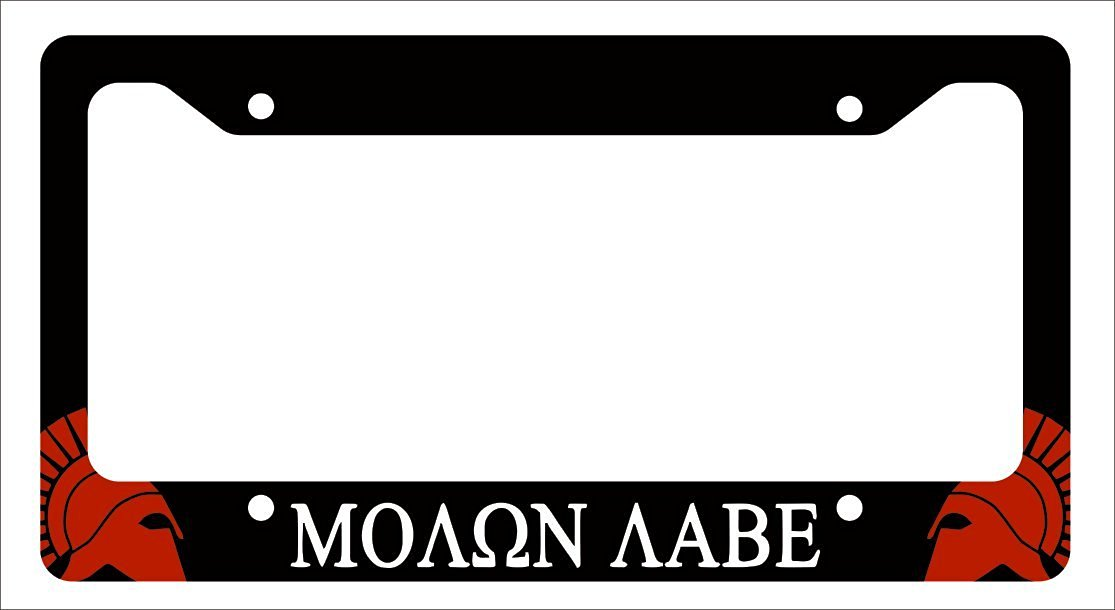 Buy 2nd Amendment Molon Labe NRA License Plate Frame Gun Control in ...