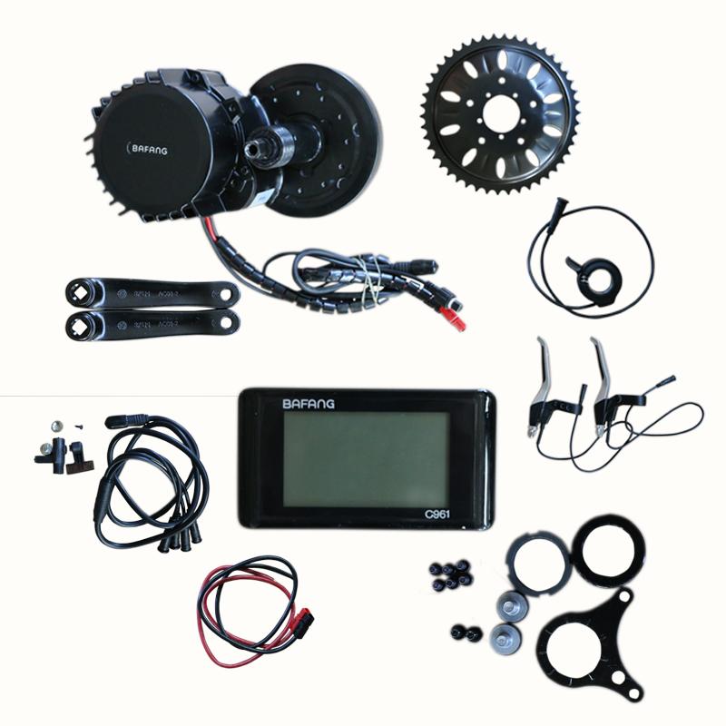 mid drive motor e bike kit 8FUN/bafang BBS02 48V 750W with C961 display, Black