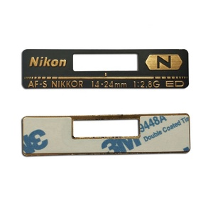 Custom Aluminum Engraved Adhesive Silver Metal Label for Electronic Products