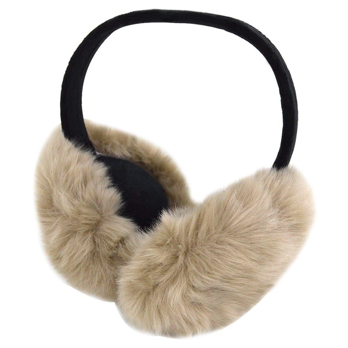 Kennedy Unisex Adult Winter Warm EarMuffs Can Folding And Washable Outdoor EarMuffs Faux Fur Ear Warmers Earmuffs