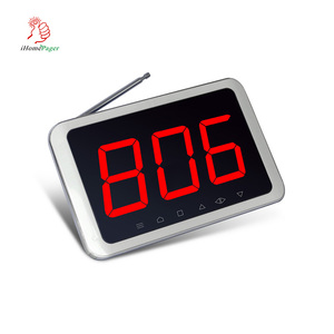 Best price hospital wireless calling system number display with full waterproof call button