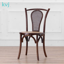 KVJ-8086 chinese new design crossback traditional rattan wood chair
