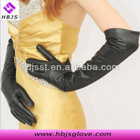 wholesale fashion thin sheepskin women wear cheap long leather gloves