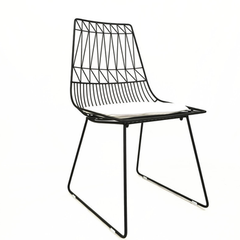 Luxury modern dining chair leisure chair reproduction metal black wire chair