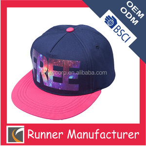 Hit color hip hop style fashion custom print cap