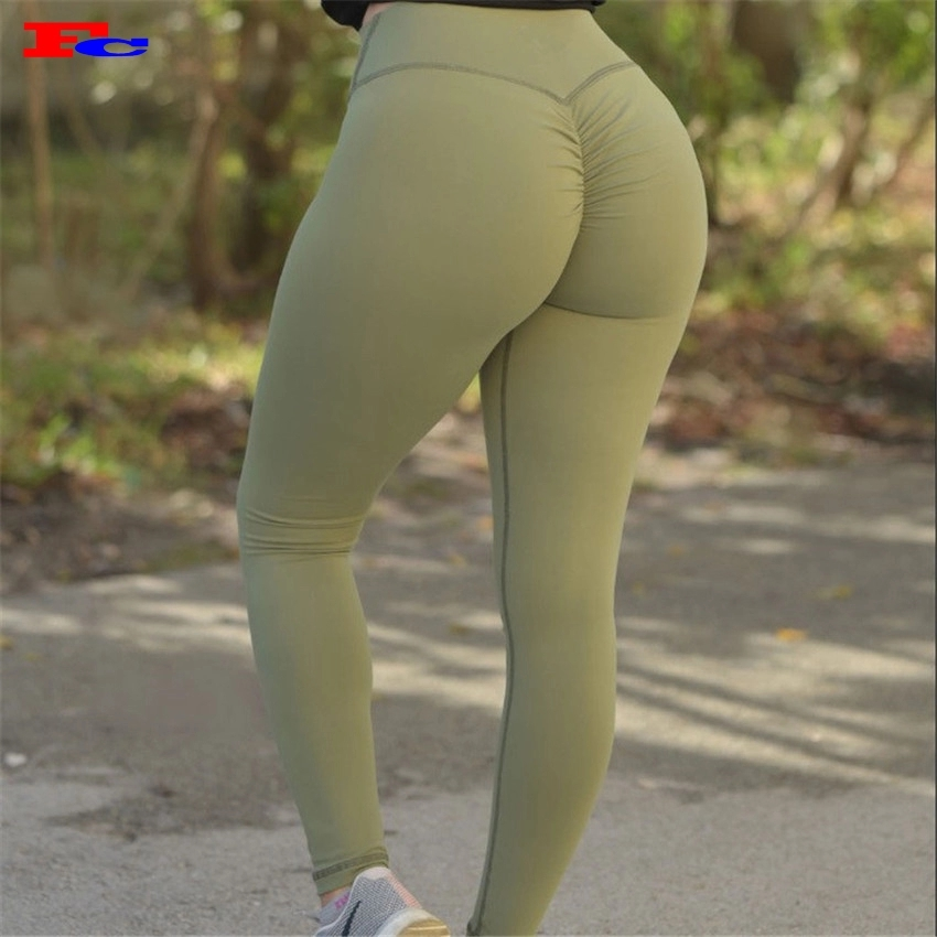 Front Mesh Design Hohe Taille Trainingshose Sport Strumpfhosen Scrunch Butt Frauen Gym Yoga Leggings