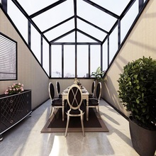 Aluminum frame double glazing glass sunroom roof