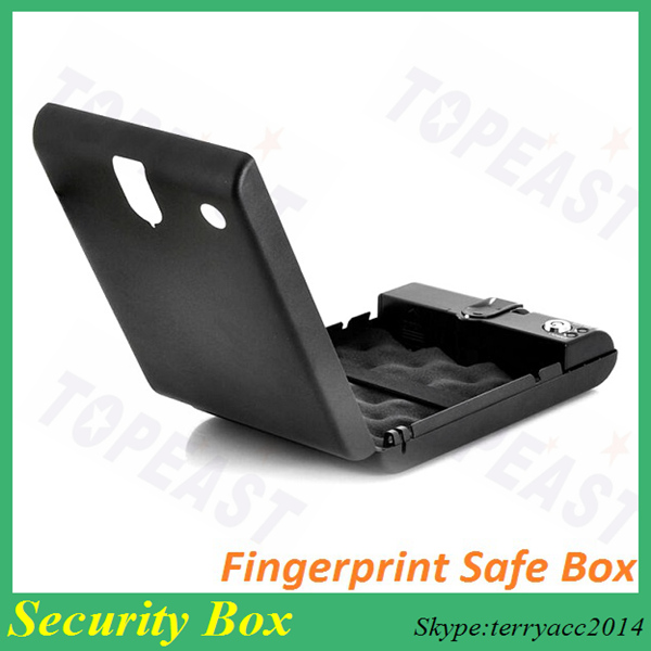 Portable Fingerprints Keyless Car Gun Pistol Safe Biobox w/ Security Cable