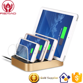 Rexiao 4 Port USB Mobile Phone Charging Station For Tablet PCs