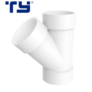 OEM/ODM PVC drainage Y tee wye pipe fitting all sizes