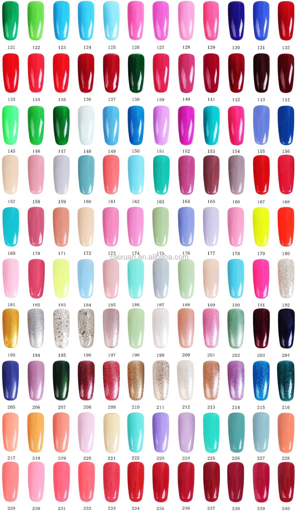 390 Colors Transparent Color Uv/led Nail Polish,Permanent Gel Nail ...