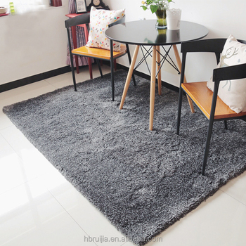 High Density Long Pile Shag Carpet Rug for Hotel Bedroom / Soft Polyester Carpet in Bedroom Small moq