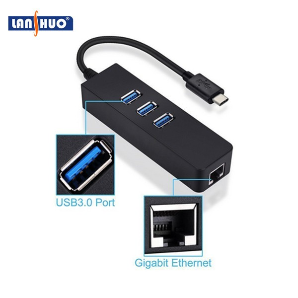 High speed usb type c female Multi-function lan ethernet adapter