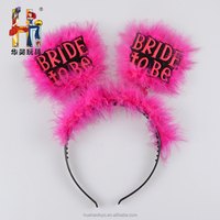 Novelties Bride to Be Furry Pink Headband Bachelorette Party Bridal Shower