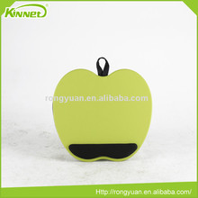 China supplier portable Apple shaped laptop desk with wrist protector