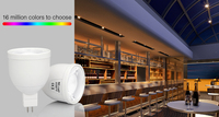 2.4G wireless ios/android wifi enabled rgb Gu10 MR16/Gu5.3 led light bulb warm/cold white various kelvin 2700-6500k