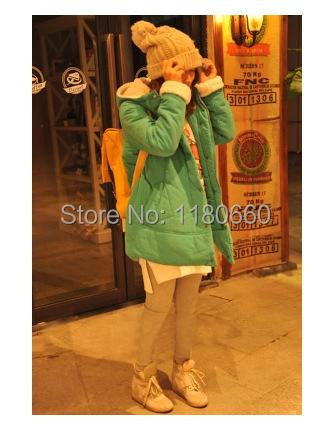 New Hot 2014 Fashion Korea Style Hoodie font b Winter b font Jacket Women Flocking Lined