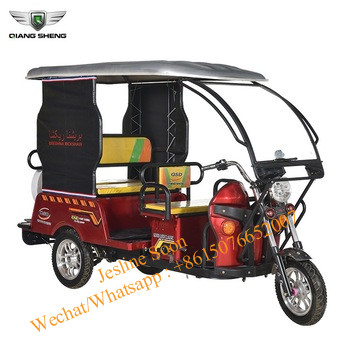 Latest Design 2020 Green Power Hot Selling Electric Tricycle Rickshaw Back To Back Design