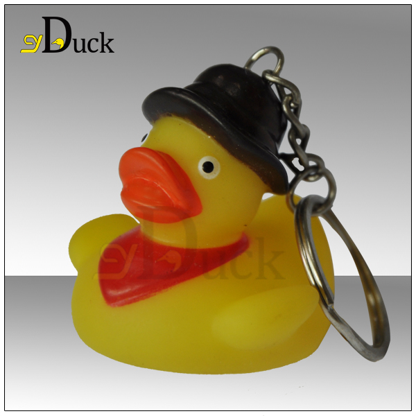 2014 Promotional Gifts Custom Vinyl Duck Keychain