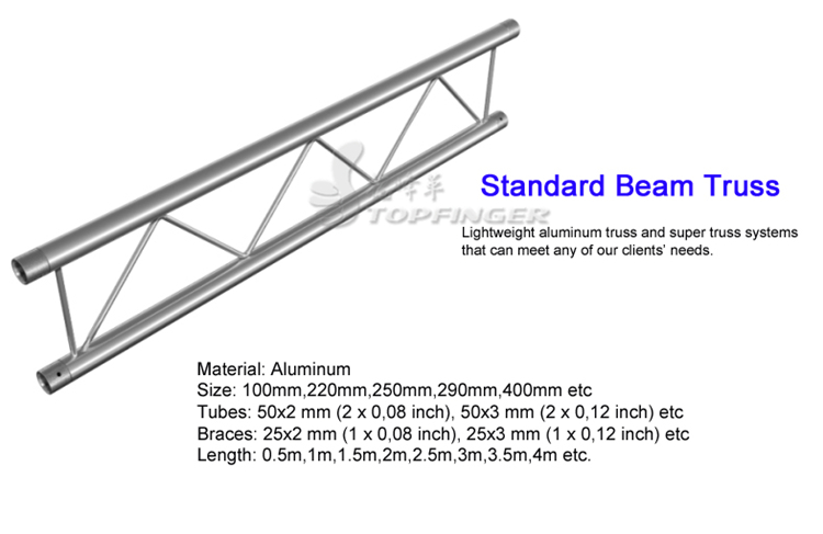 Manufacturer High Quality Cheap Professional Easy Frame Aluminum Studio Light Flat Roof Truss System For Sale
