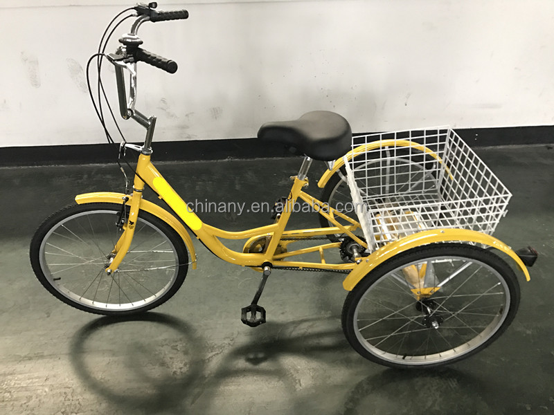 C-GW7001 20 Inch 6 Speeds foldable tricycle/Basket bike