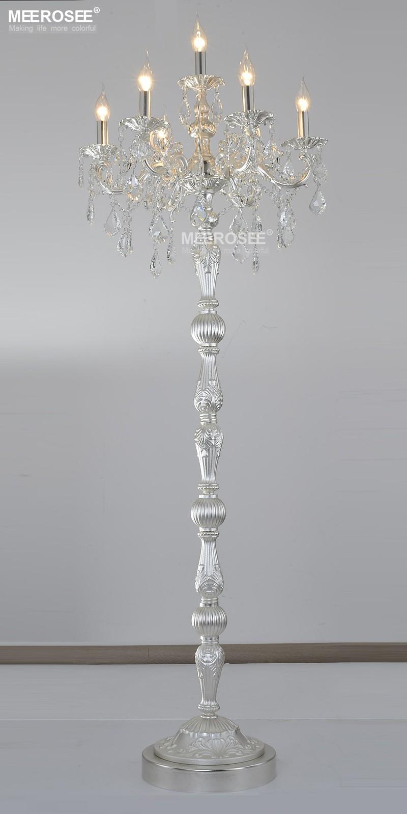 Klassische 7 Lichter Kristall Stehleuchte, Bodenständer Licht Fixture  Cristal Lustre Leuchter Stehlampe Center MD3134