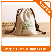 popular selling print logo small linen drawstring bag for candy