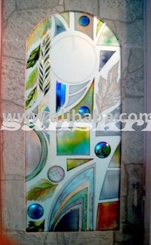 hand painted glass door paintings : door paintings - Pezcame.Com
